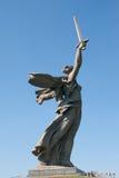 Il monumento principale - le chiamate della patria è situata sulla cima della t immagini stock libere da diritti