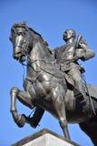 Il monumento a re Peter I Karadjordjevic della Serbia a Novi Sad, lo ha fatto durante questo 2018 anni P immagini stock