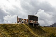 Il monumento Soviet-georgiano di amicizia, Georgia fotografia stock