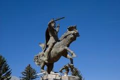 Il monumento a Vardan Mamikonyan in Gyumri, Armenia fotografie stock libere da diritti