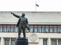 Il monumento a Vladimir Lenin (Ulyanov) nella città di Kaluga in Russia Immagini Stock Libere da Diritti