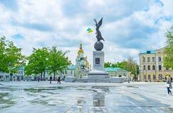 Il monumento volante dell'Ucraina Fotografie Stock Libere da Diritti