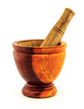 Il mortaio ha fatto il legno del ââof Immagini Stock