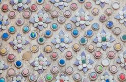 Il mosaico antico in 100 anni al tempio di Pho fotografie stock libere da diritti
