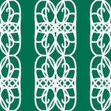 Il mosaico bianco orna il modello senza cuciture Immagine Stock