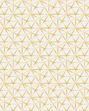 Il mosaico contemporaneo geometrico del modello di vettore del ogrid dorato ha ispirato illustrazione vettoriale