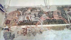 Il mosaico in Darjiu ha fortificato la chiesa Fotografie Stock
