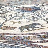 il mosaico del tetto nel marocchino anziano Africa della città e la storia viaggiano Immagini Stock Libere da Diritti