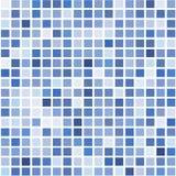 Il mosaico dell'quadrati blu luminosi su un fondo bianco royalty illustrazione gratis