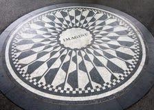 Il mosaico di immaginazione a Strawberry Fields in Central Park, New York Fotografie Stock Libere da Diritti