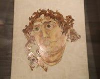 Il mosaico romano antico in Roman Museum nazionale, romano, Italia immagini stock