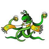 Il mostro celebra il giorno del ` s di Patrick illustrazione di stock