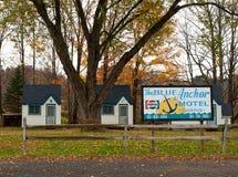 Il motel blu dell'ancora Fotografia Stock
