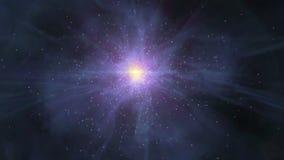 Il moto di spazio astratto zumma il CICLO stock footage