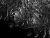 Il moto di turbinio dell'estratto di frattale, moto rende in bianco e nero di superficie fantastico immagini stock libere da diritti