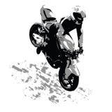 Il motociclista Fotografie Stock Libere da Diritti