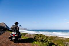 Il motociclista Immagini Stock