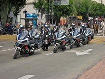 Il motociclista afferra Messico City fotografia stock