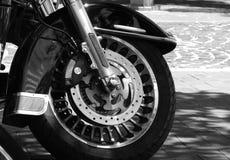Il motociclo automatico spinge Harley Fotografie Stock Libere da Diritti