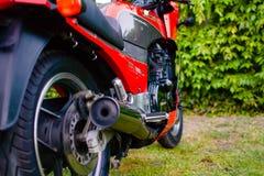 Il motociclo di Kawasaki GPZ 900 dal film di Top Gun ha fotografato all'aperto nel parco Immagine Stock Libera da Diritti