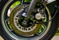 Il motociclo di Kawasaki GPZ 900 dal film di Top Gun ha fotografato all'aperto nel parco Immagini Stock Libere da Diritti