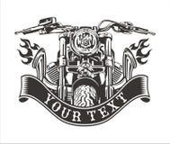 Il motociclo esaurisce l'emblema Immagine Stock Libera da Diritti