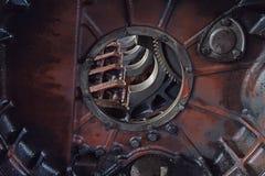 Il motore del camion per l'asse ed i pistoni Fotografia Stock