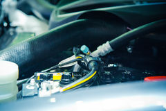 Il motore di automobile Fotografie Stock