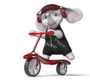 Il motorino 3d di guida dell'elefante dell'adolescente rende royalty illustrazione gratis