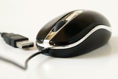 Il mouse del PC con il USB ha isolato Fotografie Stock