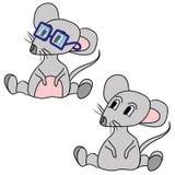 Il mouse grigio Fotografia Stock Libera da Diritti