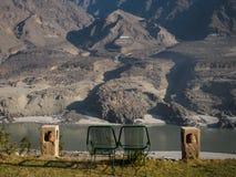 il moutain della città Gilgit di Chilas baltistan Fotografia Stock Libera da Diritti
