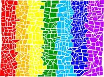 Il Mozaic astratto Fotografia Stock Libera da Diritti