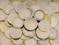 Il mucchio dell'euro conia i soldi Immagine Stock Libera da Diritti