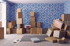 Il mucchio delle scatole di cartone Fotografie Stock