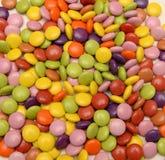 Il mucchio dello zucchero ha costeggiato i dolci Immagini Stock Libere da Diritti