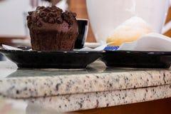Il muffin e il Tetta Fotografie Stock