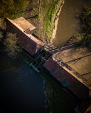 Il mulino a acqua Nuenen vicino, Paesi Bassi di Kollen Immagini Stock Libere da Diritti