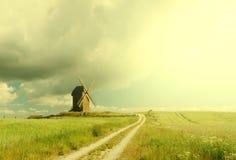 Il mulino a vento Fotografia Stock