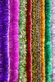 Il multi colore variopinto di lamé per un fondo Immagini Stock
