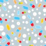 Il multiplo droga le pillole ed incapsula il modello senza cuciture della medicina, vettore royalty illustrazione gratis