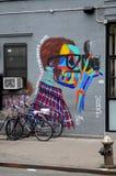 Il murale di Terry Richardson dipinto da Bradley Theodore fotografia stock