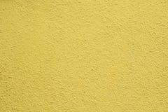 Il muro di cemento è giallo Fotografie Stock