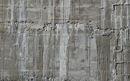 Il muro di cemento con il modello di legno impressiona dal bordo di forma di legno Fotografia Stock Libera da Diritti