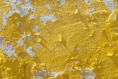 Il muro di cemento con vecchio gesso ha scheggiato, stile del paesaggio, superficie di calcestruzzo di lerciume, grande fondo o s Immagini Stock Libere da Diritti