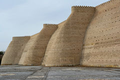 Il muro di cinta di Buchara antica Fotografie Stock Libere da Diritti