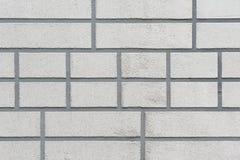 Il muro di mattoni grigio Fotografia Stock