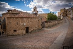Il museo, Antigua prende la cura del centro della Spagna Immagine Stock