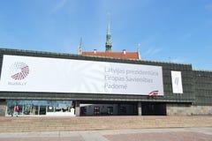 Il museo dell'occupazione della Lettonia Fotografia Stock Libera da Diritti