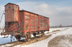 Il museo di Auschwitz-Birkenau Immagini Stock Libere da Diritti